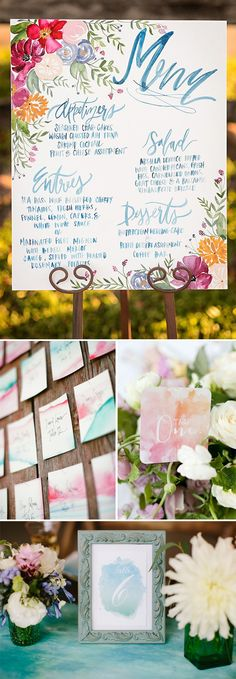 Bodas con acuarelas o watercolour