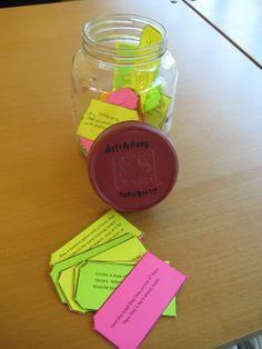 Tween passive program: the distrAction jar: for bored or unsupervised kids GREAT!!