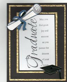 graduation card I made today....