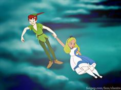 Maybe after Alice got back from Wonderland, Peter Pan visited her and took her off to Neverland.... Alice in Neverland?