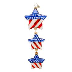 Christopher Radko Ornaments 2014 | Radko American Flag Ornament Stars in Your Eyes