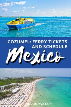 Cozumel Ferry Cheapest Tickets and Schedule | How to take the ferry to and from Cozumel, Mexico. Located just 30 minutes from the mainland, this island getaway is a must visit. Everything you need ti know including ferry times, how to purchase tickets, and how to get to Cozumel via ferry from Cancun and Tulum. | Getting Stamped - Couple #Travel & #Photography #Blog | #Cozumel #Mexico #CozumelMexico | cozumel mexico | mexico travel tips | travel to mexico