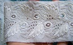 Antique  Ayrshire Hand Embroidered Lace Trim by AntiqueDelights, $35.00