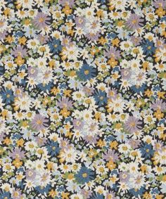 Liberty Fabrics' Libby is lustrously detailed and rich in colour – printed in Liberty's Italian fabric mill, on our inimitable Tana Lawn cotton. Liberty Fabric, Liberty Print, Fabric Patterns, Flower Patterns, Pretty Patterns, Ditsy Floral, Floral Style, Vintage Patterns, Flower Prints