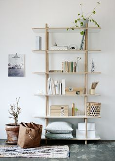 A shelf like this one for the little space next to the mirror but not so tall so I have space for a painting on top maybe?