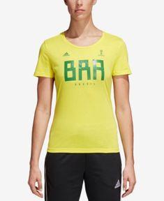 cdd5c12b3c9 adidas Cotton Brazil T-Shirt   Reviews - Tops - Women - Macy s