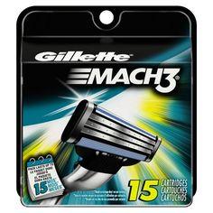 #amazon Gillette Mach3 Base Cartridges 15 Count - $25.99 (save 29%) #gillette #p #beauty