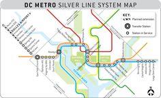 Silver Line Dc Map.60 Best Transit Maps Images Maps Cards Blue Prints