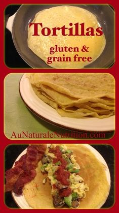 Easy Tortillas/Crepes. (Paleo, gluten & grain-free!) Great for Mexican nite or breakfast burritos. by www.aunaturalenutrition.com