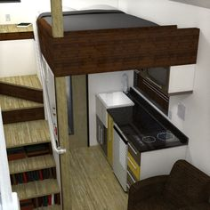 Plans $119. The McG Loft from Humble Homes was created to make tiny houses more accessible to those for whom climbing a ladder to the loft was not an option. This home contains a 2′ wide staircase to the sleeping loft, making it perfect for the ladder weary. On top of that, we've also managed to squeeze in a living/dining area, kitchen, bathroom, large storage area and a porch...