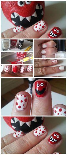 Red Nose Day Nails!    #RND #RedNoseDay #nailart #nails