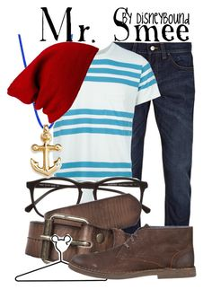 """Mr. Smee"" by leslieakay ❤ liked on Polyvore featuring Topman, Levi's Made & Crafted, Illesteva, Scotch Shrunk, Disney, Calvin Klein Jeans, Forever 21, women's clothing, women and female"