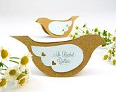Bird Place Cards / Escort Cards - Custom Printed Table Name Cards - Rustic Wedding Dove Table Tents with Removable Wings - Kraft Paper Wedding To Do List, Wedding Place Cards, Our Wedding, Wedding Ideas, Rustic Wedding, Dream Wedding, Wedding Doves, Love Birds Wedding, Name Tent