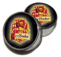 "Custom Hogwarts House Plugs - 1 Pair (2 plugs) - Sizes 0g, 00g, 7/16"", 1/2"", 9/16"", 5/8"", 3/4"", 7/8"", 1"" - Made to Order"