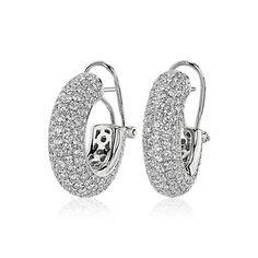 14k Yellow Gold Big Hoop Earrings Wedding Jewelry Natural 1.75 Ct Diamond Hoop Earrings 925 Sterling Silver Hoop Earrings Bridal Jewelry