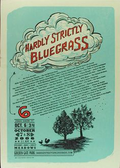 Hardly Strictly Bluegrass Poster 2006 Avett Brothers