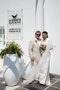 Wedding Anniversary at the Aressana Spa Hotel and Suites  Eleni and Pavlos renewed their #wedding vows at the Aressana #hotel.  So many years together and still so much in love!!