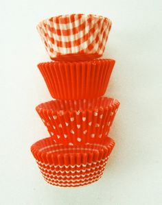 Assorted Bright Orange Cupcake LIners 40 by CupcakeSocial on Etsy, $3.25 Love, love, love for the 2014 womens conf.