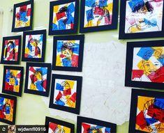 셀로판지 팝아트 알록달록 멋진작품이에요 by @wjdwnfl0916 선생님 색으로 뭔가 신박한 미술활동울 하고팠는데 마침 #누리놀이 에서 꿀팁발견 셀로판지로 겹쳐붙인부분은 색이변한다는것도 자연스레 알수있었다 밑그림만 선생님이 그려주면… Diy And Crafts, Crafts For Kids, Arts And Crafts, Messy Art, Art Projects, School Projects, Art N Craft, Art Lessons Elementary, Art Graphique