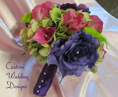 Wedding Bouquet of Real Touch Rosebuds by Customweddingdesigns, $140.00