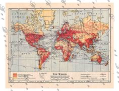 old map of the world....instant download.....digital by artdeco, $4.00