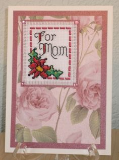 Mom Is A Queen Just A Note Greeting Card Cross Stitch Kit NEW