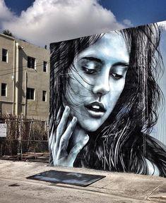 Wonderful Street Art by @StarFighterA in Wynwood Miami #art #mural #graffiti #streetart