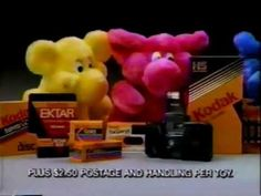 Did you know that Kodak used to give away free stuffed animals when you purchased certain camera products?