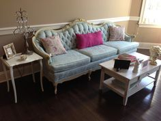 vintage sofa - love the tufted back