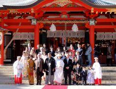 Hochzeit im Ikuta Shrine in Kōbe, Japan
