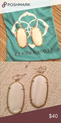 Kendra Scott earrings Gorgeous mother of pearl Kendra Scott earrings. Perfect condition, I only wore them one time. Dust bag included. Kendra Scott Accessories