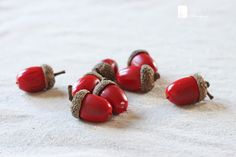 inspired by charm: painted acorns....cute table center piece filler
