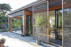 10 Abundant Tips AND Tricks: Window Blinds Diy blinds and curtains grey.Blinds And Curtains Modern outdoor blinds architecture.Roll Up Blinds Cotton. Outdoor Blinds, Outdoor Shutters, Patio Blinds, Bamboo Blinds, Indoor Outdoor, Design Exterior, Facade Architecture, Outdoor Living, Backyard