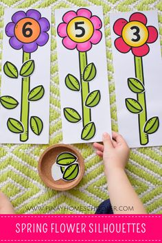 Spring Themed Counting Activity This SPRING PRESCHOOL LEARNING PACK/MATH & LITERACY is a collection of 30 fun and engaging activities designed for preschoolers, pre-kindergartens, kindergartens or for ages old. The activities included in this file are Counting Activities, Preschool Learning Activities, Preschool Lessons, Spring Activities, Toddler Activities, Preschool Activities, Spring Preschool Theme, Preschool Curriculum, Homeschool
