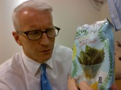 """""""Backstage at Kathy Griffin's show. They have roasted seaweed snacks. Is this a joke?"""" —Anderson Cooper http://andr.tv/LF4Vgq"""