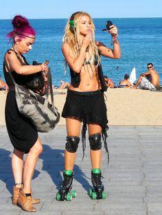 Shakira on roller skates, another reason I love her.