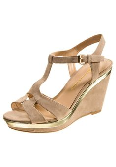 Chocolate Schubar - EVETTE - High heeled sandals - beige