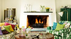 Whimsical World of Laura Bird: unconventional fireplaces