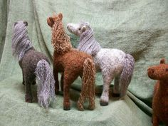 Ravelry: margaretsanford's Horses  These are knit then felted!