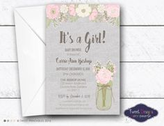 Baby Shower Invitations, Printable Baby Shower Invitations, Baby Sprinkle Invitations