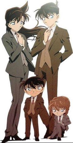 Ran, Conan/Shinichi and Haibara