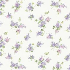 Norwall Wallcoverings Pretty Prints 4 Lilac Sprigs Wallpaper Purple Pink Green - The Savvy Decorator Pink And Green Wallpaper, Purple Flowers Wallpaper, Purple Wallpaper Iphone, Wallpaper Roll, Lavender Aesthetic, Flower Aesthetic, Purple Aesthetic, Embossed Wallpaper, Textured Wallpaper
