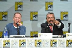 Kiefer Sutherland Photos Photos - Actor Kiefer Sutherland (L) and producer/writer Jon Cassar attend the '24: Live Another Day' panel during Comic-Con International 2014 at the San Diego Convention Center on July 24, 2014 in San Diego, California. - '24: Live Another Day' Panel at Comic-Con