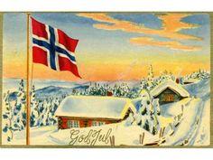 Julekort George Schumann Børrehaug & Remen brukt 1955