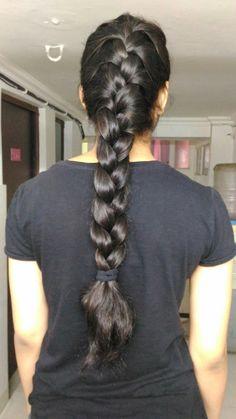 Long Bob Hairstyles, Braided Hairstyles, Long Hairstyle, Real Rapunzel, Thick Braid, Beautiful Braids, French Braid, Hair Makeup, Big Bun