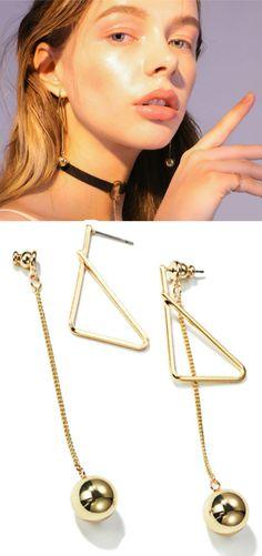 #TriangleEarrings #DangleEarring #Geometric #SymmetricalEarring #FashionEarrings #TrendEarring #Cute #Stud #Hypoallergenic #GiftsForWomen