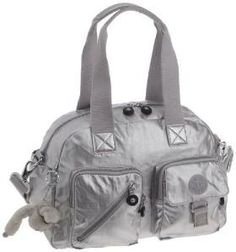 The Kipling Defea Medium Shoulder Bag with Removable Shoulder Strap, in a limited edition Metallic Silver colour.  This is a real Kipling collectors bag and will certainly make a statement.