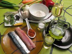 ingredientes escabeche en la cocina de la abuela