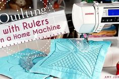 Yes, You Can Quilt With Rulers on a Home Machine