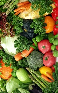 A beautiful array of colourful veges.